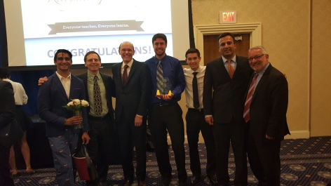 Finance & Accounting Club wins Club of the Year (Raffah, me, Pres. Mabry, Brett, Dana, Vikram, Phill Sisson)